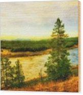 Nature Painted Landscape Wood Print