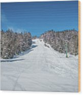 Beautiful Nature And Scenery Around Snowshoe Ski Resort In Cass  Wood Print