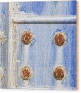 Blue Metal Wood Print