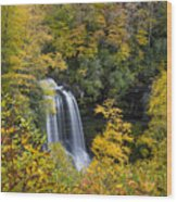 Dry Falls - Highlands, Nc Wood Print