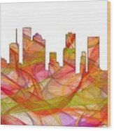 Houston Texas Skyline Wood Print