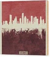 Houston Texas Skyline Wood Print