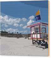 Jetty Park On Cape Canaveral In Florida Wood Print