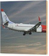 Norwegian Boeing 737-8jp Wood Print