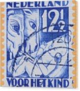 Old Dutch Postage Stamp Wood Print