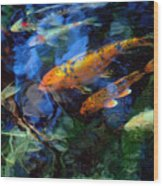 The Koi Pond Wood Print