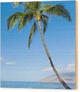 Tropical Beach Wood Print