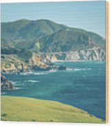 Western Usa Pacific Coast In California Wood Print