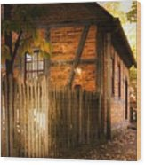 1700s House Old Salem Wood Print
