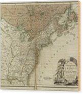 1783 United States Of America Map Wood Print