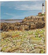1791 Portland Head Light  -  1791portlandheadlighthouse185233 Wood Print