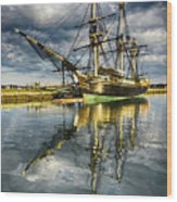 1797 Trading Ship Replica - Friendship Of Salem Wood Print