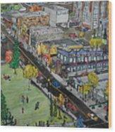17th Ave Calgary Wood Print