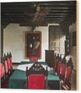 17th Centruy Meeting Room Wood Print