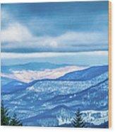 Beautiful Nature And Scenery Around Snowshoe Ski Resort In Cass  Wood Print
