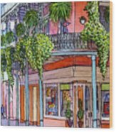 18  French Quarter Art Gallery Wood Print