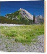 J P Landscape Wood Print