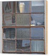 18 Panes Wood Print
