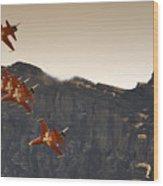 Patrouille Suisse Wood Print