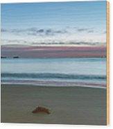 Rocky Daybreak Seascape Wood Print