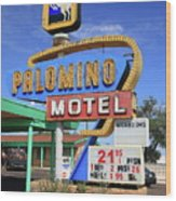 Route 66 - Tucumcari New Mexico Wood Print