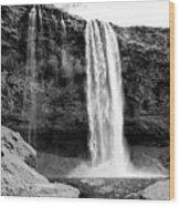 Seljalandsfoss Waterfall Iceland Wood Print