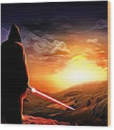 Star Wars Heroes Poster Wood Print