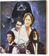Star Wars Saga Art Wood Print