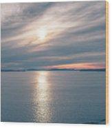 Sunset Over Alaska Fjords On A Cruise Trip Near Ketchikan Wood Print