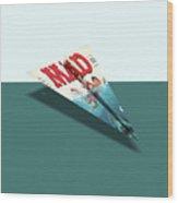 180 Mad Paper Airplanes Wood Print
