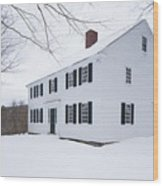 1800 White Colonial Home Wood Print