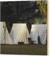 1800s Army Tents Wood Print