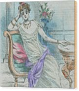 1804 Paris France Fashion Drawing Wood Print