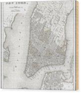 1839 New York City Map Wood Print