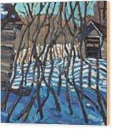 1840 Farm Wood Print
