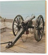1841 Model Six Pounder Cannon At Fort Mackinac Wood Print