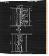 1854 Corn Sheller Patent Drawing Wood Print