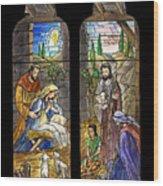 1857 Nativity Scene Wood Print