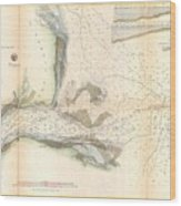 1857 U.s. Coast Survey Map Or Chart Of The Mouth Of St. Johns River, Florida Wood Print