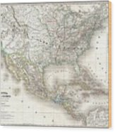 1858 Dufour Map Of The United States  Wood Print