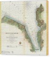 1859 U.s. Coast Survey Chart Or Map Of Hempstead Harbor, Long Island, New York  Wood Print