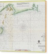 1859 U.s. Coast Survey Map Of Bull's Bay South Carolina Wood Print
