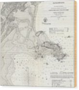 1859 U.s. Coast Survey Map Of Lynn Harbor, Massachusetts Wood Print