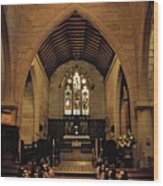 1865 - St. Jude's Church  - Interior Wood Print