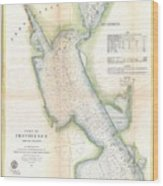 1865 Us Coast Survey Map Or Chart Of Providence Rhode Island Wood Print