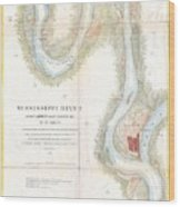 1865 Uscs Map Of The Mississippi River From Cairo Illinois To St Marys Missouri  Wood Print