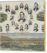 1866 Harpers Weekly View Of Salt Lake City Utah W Brigham Young Mormons Wood Print