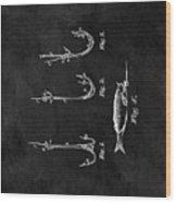 1867 Fishing Lure Patent Wood Print