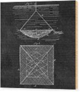 1869 Fishnet Patent Wood Print