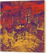 1872 Abstract Thought Wood Print